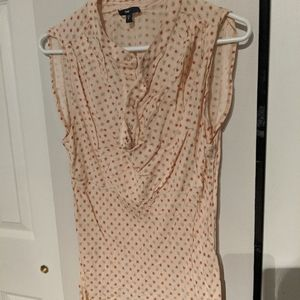 Cowl front sleeveless blouse